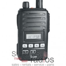 Icom F50 31 waterproof VHF 5 watt 128 channel 136-174mhz