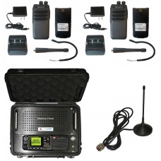 QTY 2 SRcommunications SR-D1U Portable Radio and Blackbox Lunchbox Portable Digital UHF 400-470MHz DMR Repeater