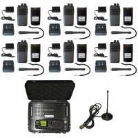 QTY 6 SRcommunications SR-D1U Portable Radio and Blackbox Lunchbox Portable Digital UHF 400-470MHz DMR Repeater